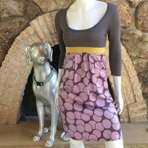 Boden Wool Silk Blend 3/4 Sleeve Circle Dress